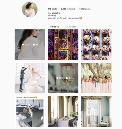 Buy a Wedding Account with Real Followers and Usernames. We have the best instagram accounts for sale, check our reviews from previous buyers on our accounts on sale. You won't regret it!