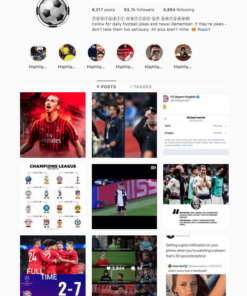 Buy Soccer Instagram Account with Real Followers and Engagements. See our 5 star Reviews on our Google Business Page. #1 Trusted Instagram Account Seller