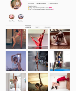 Buy Yoga Instagram Account
