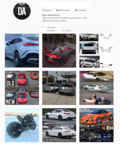Buy Cars Instagram Account for Sale